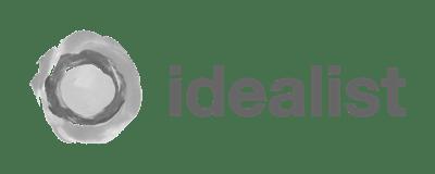 logo - idealist - black and white