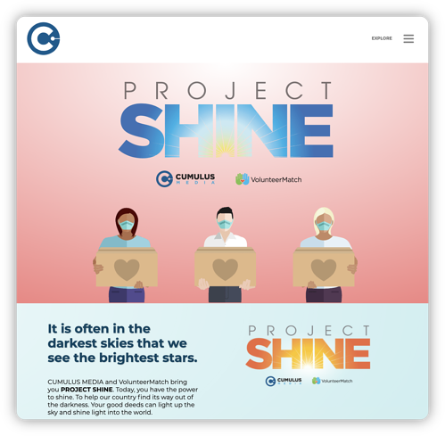 sponsorships image - project shine cumulus 2
